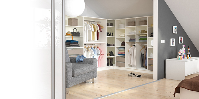 Begehbarer Kleiderschrank ganz ohne extra Raum