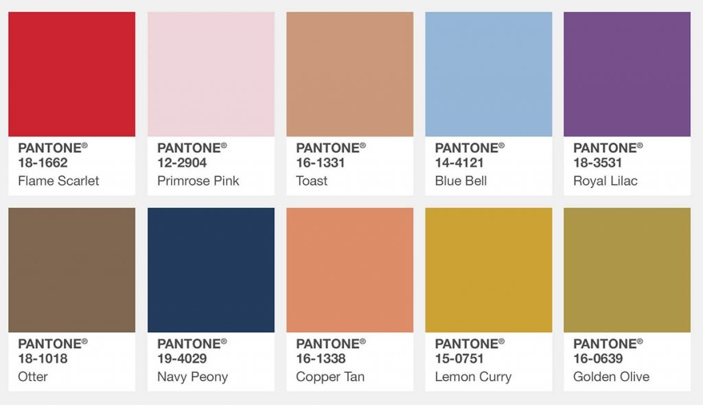 farbtrends herbst 2017 pantone fashion color report. Black Bedroom Furniture Sets. Home Design Ideas