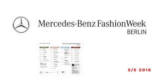 Schauenplan und Designer der Mercedes-Benz Fashion Week Berlin SS18 (Spring Summer 2018)