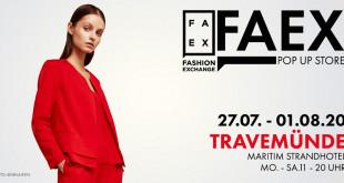 FAEX Pop Up Store kommt nach Travemünde und Usedom - 2020